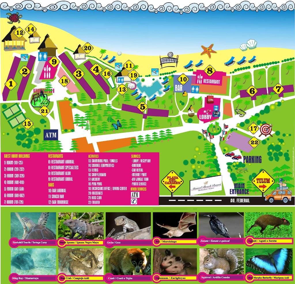 Beautiful Akumal Beach Resort Map Ideas - Printable Map - New ...